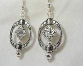 Antiqued Silver Celtic Earrings Jewelry