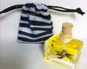 1/4 oz. Your Choice Of Perfume handcrafted with Dragon Fly Charm and Zebra Bag  All Natural Botanical PerfumeOrganic  FREE SHIPPING USA
