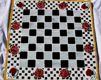 Game Boards, Mosaic, Game Board, Stained Glass And Fused Glass Game Board, Custom Game Boards