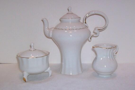 Tea Set, Romanian Porcelain Tea Set, Tea Set By Ceroc, Cluj-Napoca