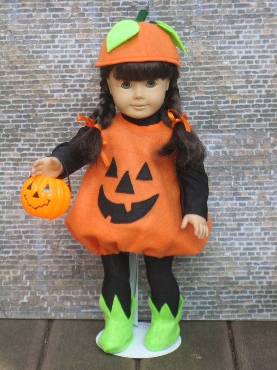 7 pc. Pumpking outfit for your American Girl doll