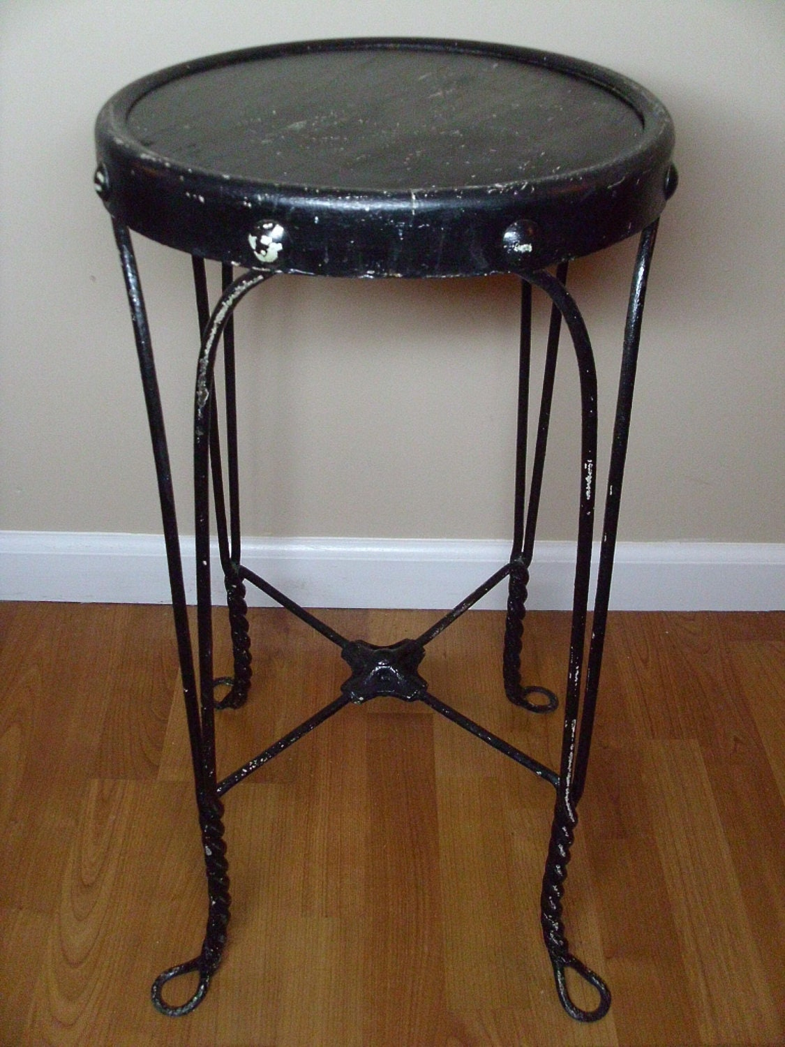 Vintage Antique Ice Cream Parlor Stool By 4theloveofvintage