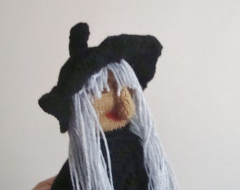 Big Witch Doll, halloween decorations, Halloween Decor, Witch Toys, Odd gifts idea, Halloween gifts, handmade, hand knitted witchcraft