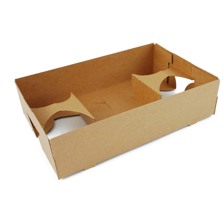 Food drink tray carrier holder brown kraft concession for Cuisine kraft