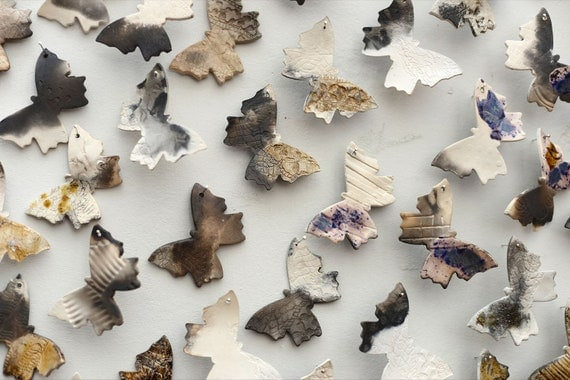 Gorgeous ceramic butterfly artwork. Indoor, outdoor to decorate a wall in your own arrangement.