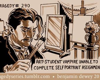Benjamin Dewey Tragedy Series Print: Art-Student Vampire