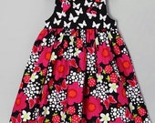 SALE Black and pink butterfly knot dress 18m, 24m Last two left