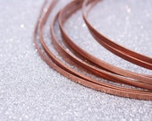 2 Raw Copper Plated Headbands Thin Metal 3mm [HB065]