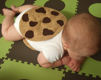 Baby Costume - PDF Pattern - Felt Chocolate Chip Cookie Halloween Costume
