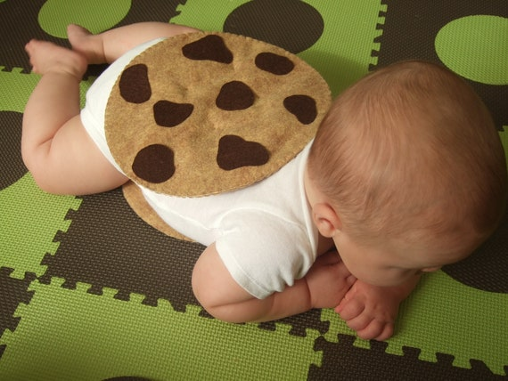 Baby Costume - PDF Pattern - Felt Chocolate Chip Cookie Halloween Costume