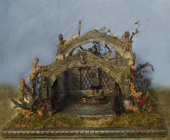 Reserved For  Our Miniature Friend, Min.11 : Quarter Scale Midnight Crypt in the Garden of Shadows