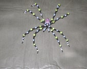 Purple and Green Lrg Jeweled Beaded Spider