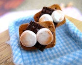 Food Jewelry S'mores Earrings