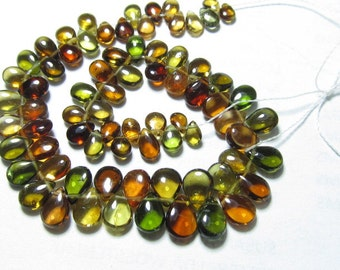 Truly Very Rare - AAAA -  High Quality TOURMALINE - Multy Colour Smooth Polished Pear Briolett size - 3x4 - 5x7 mm - 57pcs