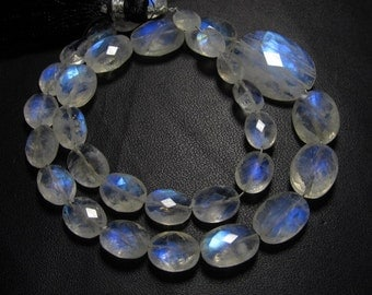 31 pcs -AAAA -High Quality Rainbow MOONSTONE Faceted Oval Briolett Each Pcs Have Amazing Blue Fire Huge size 5.5x7 - 14x20 mm-