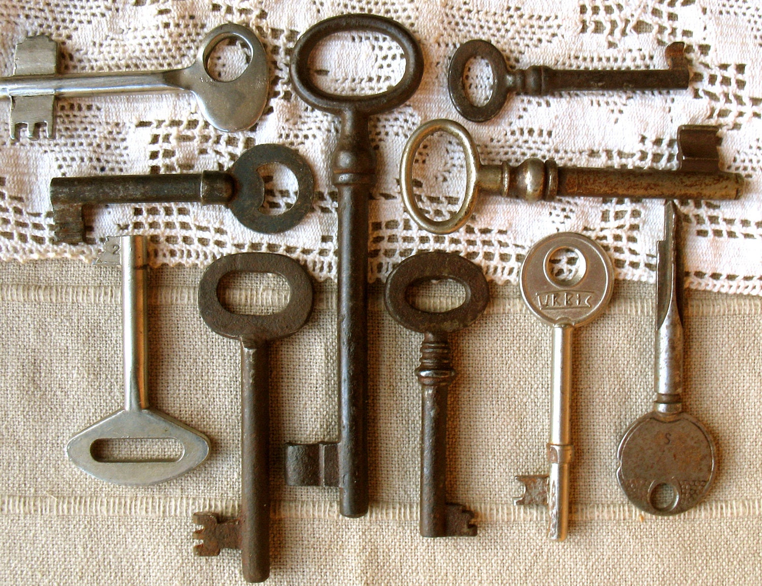 Sale Old Keys Genuine Vintage Keys 10 Antique Skeleton