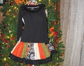Boutique girls Halloween skirt and long sleeve shirt by Sweet Sewing Jeans