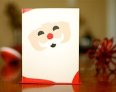 Minimalist Santa Set of 10 Holiday Cards on 100% Recycled Paper