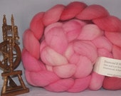 "Gradient Wool Roving ""Blush"" 6.5 ounces"