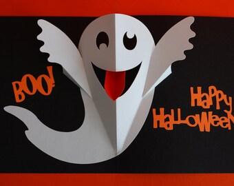Halloween Goofy Ghost Pop-Up Card