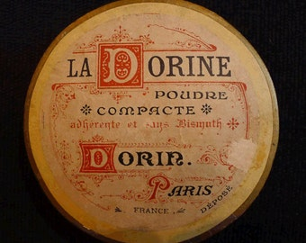 Vintage French Powder Box - La Dorine