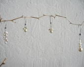 RESERVED FOR CLAIRE - Bridesmaid Pearl Earrings Gift Set - Set of (4) Pairs of Earrings & (1) Necklace
