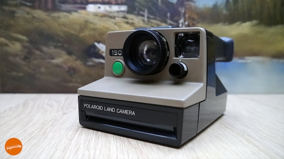 Funky beige Polaroid 1500 instant camera (reserved)