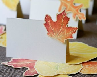 Fall Leaf - Place Card - Gift Card - Table Number Card - Menu Card -weddings events