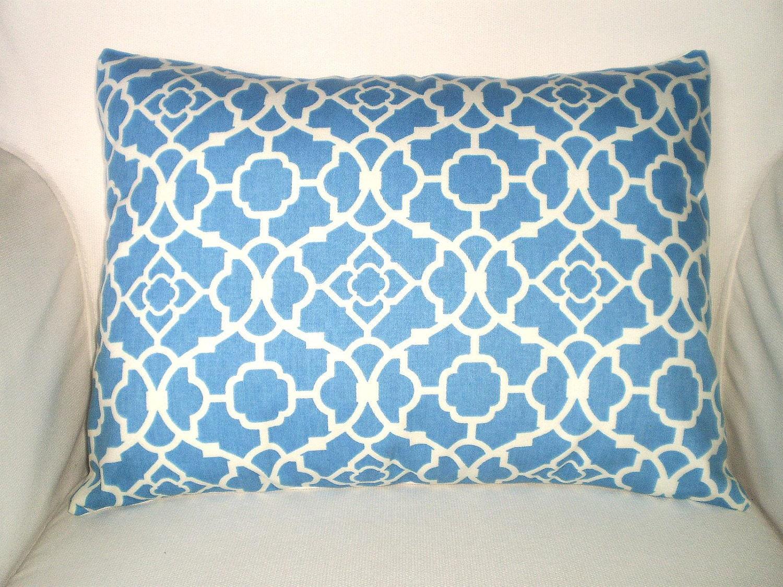 Blue Lumbar Pillow Case Decorative Pillows Throw Pillow