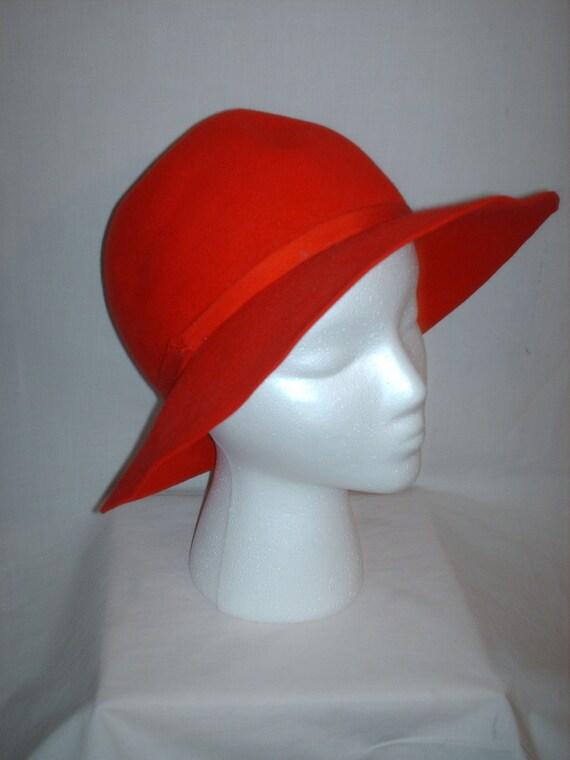 Vintage 1960s Felt Hat Wide Brim Mr. Frank Original
