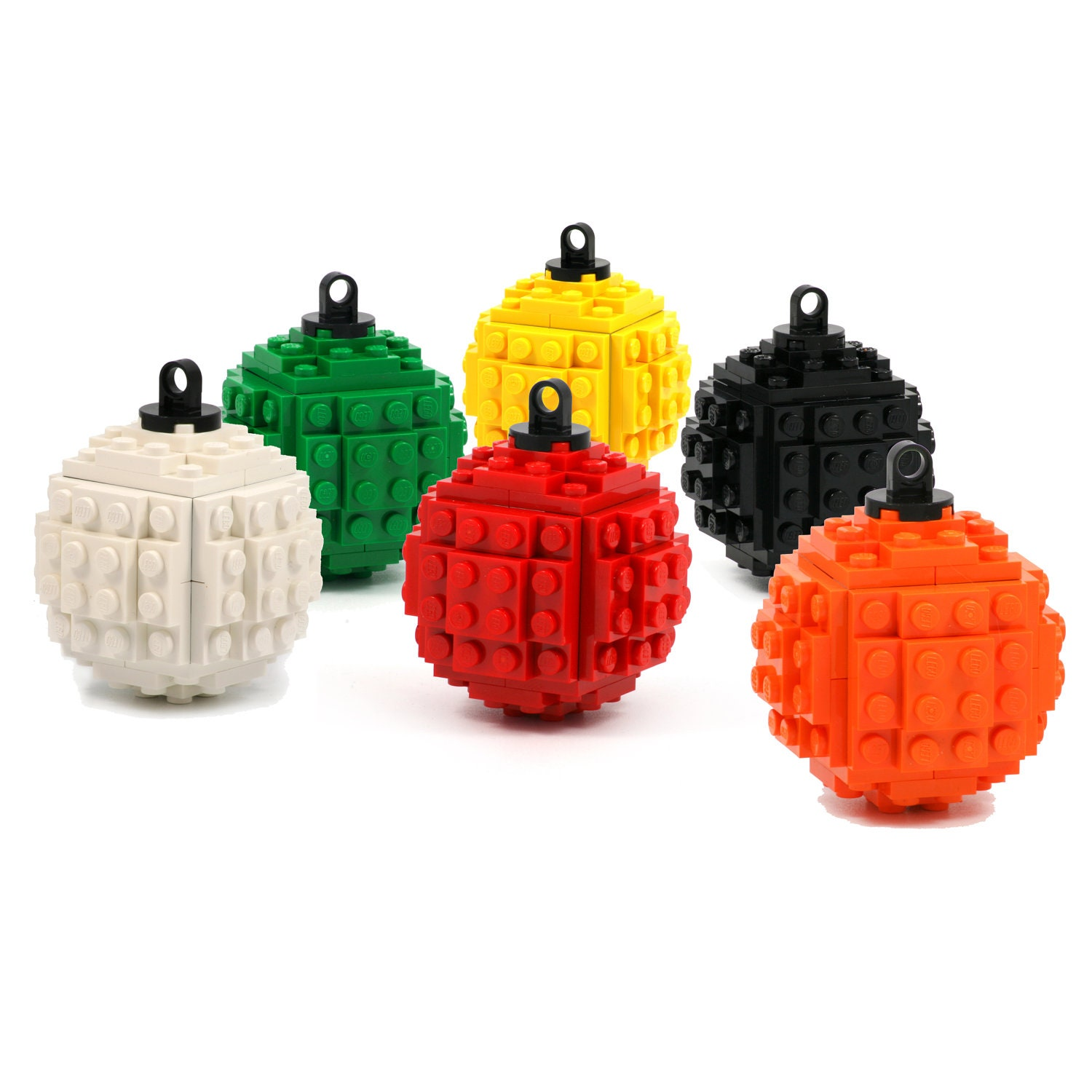 Christmas Tree Ball Ornament Made With LEGO Bricks A Modern