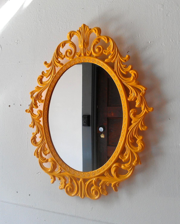Wayne Marigold Princess Image: Fairy Princess Mirror Ornate Vintage Frame In Marigold