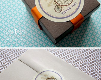 "2.5"" Circle sticker labels for gift, mason jar, personal stationery, wedding favor, or as envelope sealer // set of 50"