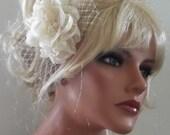 Wedding Hair Accessories, Flower Comb, Bridal Hair Comb, Wedding Hair Fascinator, Wedding Headpiece, Bridal Head piece, Kathy Johnson