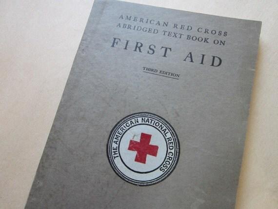 antique Red Cross FIRST AID book - circa 1925