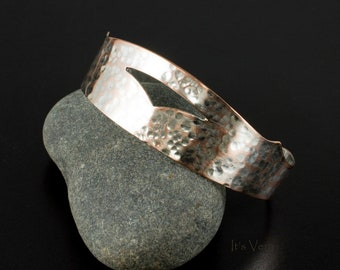 Cuff bracelet, artisan bracelet, unique cuff, mixed metal bracelet, jewelry, hand hammered copper cuff, silver bracelet, statement bracelet
