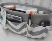 Purse Insert ORGANIZER SHAPER / Gray & White Chevron / STURDY / 5 Sizes Available / Bag Organizer / Check out my shop for colors and styles