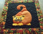 Cat quilt,Wall Hanging,Wall Decor,Quilts,Fall decoration, Harvest,Octoberfest,Cats