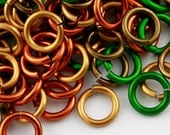 JUMP RINGS - 18-Gauge AWG Enameled Copper Jump Rings - Fall Mix - 1 Ounce - Pick Your Size!