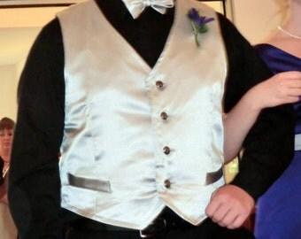 Mens Satin Vest and Bowtie, Custom