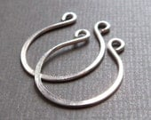 Two pieces Sterling Silver Horseshoe Links, jewelry component