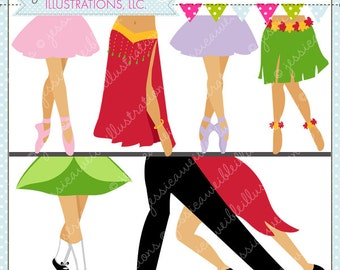 Dancing Feet Cute Digital Clipart for Commercial or Personal Use, Dance Clipart, Dance Graphics