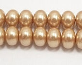 8x12mm Champagne Glass Pearl Rondelle beads (12)