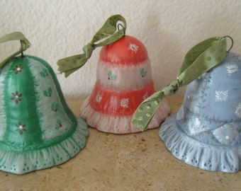 VINTAGE CHRISTMAS Bell Ornaments for your Tree