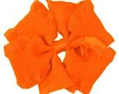 Medium Orange  Double Ruffle Pinwheel Hairbow  Fancy  Hairbows Hair bows Toddlers Girls Photo Prop
