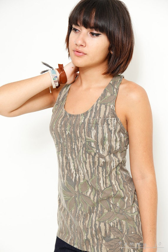 Camouflage One Pocket Tank Top - Sustainable Womens Apparel by Tammy Jo