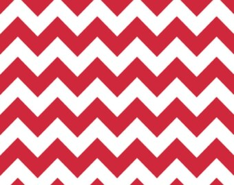 SALE, Chevron in Red by Riley Blake Fabrics, 1 Yard
