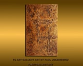 Sale Special 20% off sale The Crosses texture abstract Paul Juszkiewicz Gold
