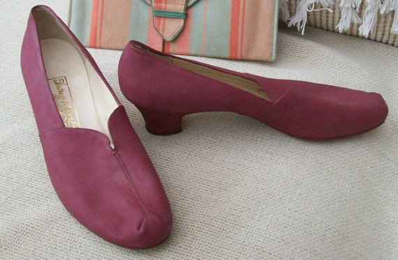 RESERVED FOR JULIA Reduced now 35% off 1940 style vintage Ferragamo shoes made for Fortnum and Mason