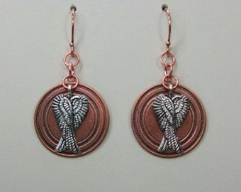 COWGIRL EARRINGS - CoPPeR AnGeL WiNGs
